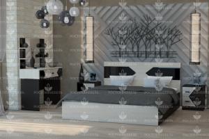 Спальня небольшая Ника 1 - Мебельная фабрика «Росток-мебель»