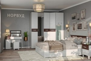 Спальня НОРВУД - Мебельная фабрика «Глазовская мебельная фабрика»