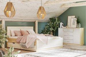 Спальня с комодом Оливия - Мебельная фабрика «Сильва»