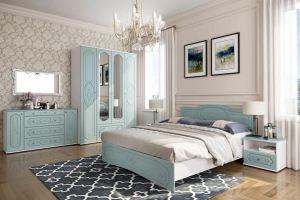 Спальня Оскар Роял Вуд Голубой - Мебельная фабрика «Эстель»