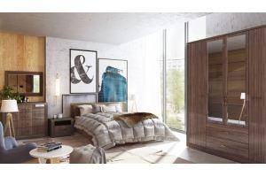 Спальня Париж Дезира темная - Мебельная фабрика «Ижмебель»