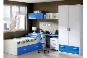 Спальня подростковая модульная Дениска - Мебельная фабрика «Мебель Прогресс»