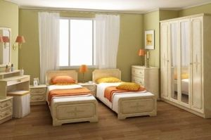 Спальня с двумя кроватями Гера п3 - Мебельная фабрика «Сергачская»