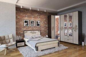 Спальня с угловым шкафом Эмели - Мебельная фабрика «ТМК (Техномебель)»