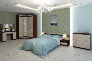 Спальня с угловым шкафом Квадро - Мебельная фабрика «НАРУС»