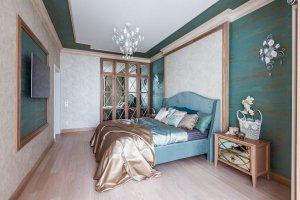 Спальня с зеркальным шкафом - Мебельная фабрика «Студия мебели Бакаут (Polka)»