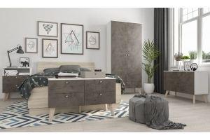 Спальня серая Мишель 12 - Мебельная фабрика «IRIS»