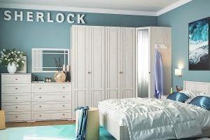 Спальня SHERLOCK светлая - Мебельная фабрика «Глазовская мебельная фабрика»