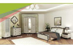 Спальня Силуэт вяз белый - Мебельная фабрика «SON&C», г. Пенза