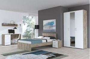 Спальня в стиле лофт Сити-3 - Мебельная фабрика «Континент»
