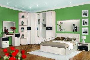 Спальня светлая Миранда 1 - Мебельная фабрика «ДИЗАЙН МЕБЕЛЬ»