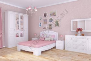 Спальня светлая Млада-865 - Мебельная фабрика «Мебель Холдинг»