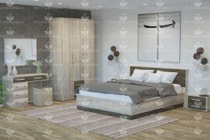 Спальня светлая Версаль 2 - Мебельная фабрика «Росток-мебель»
