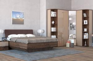 Спальня Тоскано  дуб эйприл/капучино глянец - Мебельная фабрика «ИнтерДизайн»