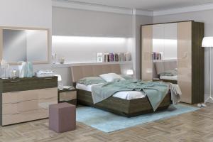 Спальня Тоскано ясень темный/капучино - Мебельная фабрика «ИнтерДизайн»