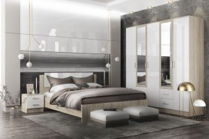 Спальня в стиле лофт София - Мебельная фабрика «ДСВ-Мебель»