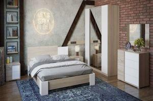 Спальня Валери 1 дуб сонома/белый ясень - Мебельная фабрика «Столплит»