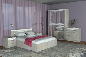 Спальный гарнитур модульный Адель - Мебельная фабрика «А-Элита»