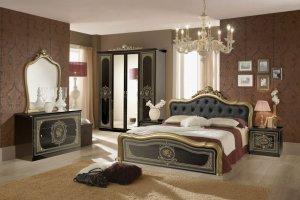 Спальный гарнитур Аличе с 4-х дверным шкафом - Мебельная фабрика «Меридиан»