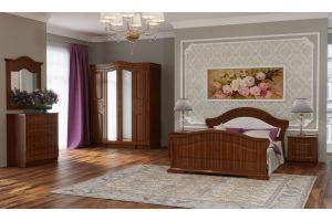 Спальный гарнитур Элизабет темного цвета - Мебельная фабрика «Альбина»