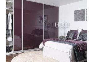 Спальный гарнитур фиолетовый глянец СП025 - Мебельная фабрика «La Ko Sta»