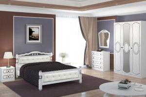 Спальный гарнитур Идилия белый - Мебельная фабрика «Bravo Мебель»