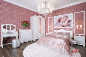 Спальный гарнитур Купидон Патина - Мебельная фабрика «Премиум»