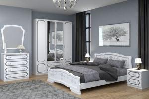 Спальный гарнитур Лакированный белый жемчуг - Мебельная фабрика «Bravo мебель»