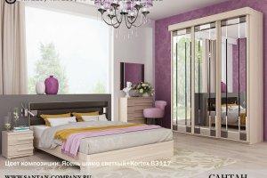 Спальный гарнитур Леонардо - Мебельная фабрика «Сантан»