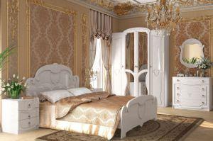 Спальный гарнитур Мария белый глянец - Мебельная фабрика «МиФ»