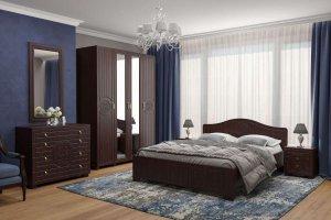 Спальный гарнитур Монблан 031 венге - Мебельная фабрика «Компасс»