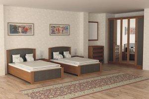 Спальный гарнитур на двоих Барселона 15 - Мебельная фабрика «Визит»