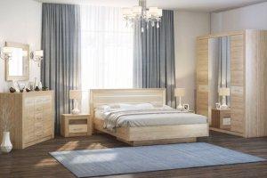 Спальный гарнитур Ника Дуб сонома - Мебельная фабрика «Евромебель»