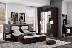 Спальный гарнитур Николь дуб венге - Мебельная фабрика «Эра»