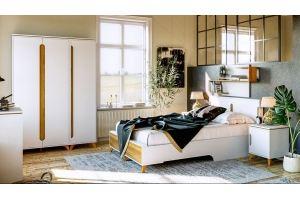 Спальный гарнитур Сканди Белый снег - Мебельная фабрика «CALPE»