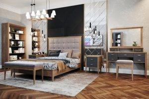 Спальный гарнитур Скандинавский Шик (А/1) - Мебельная фабрика «Royal Dream»