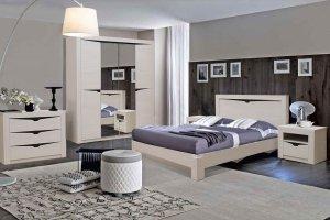 Спальный гарнитур Стефани цвет ясень анкор, слива - Мебельная фабрика «Аристократ»