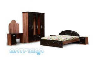 Спальный гарнитур темного цвета - Мебельная фабрика «Матрица»