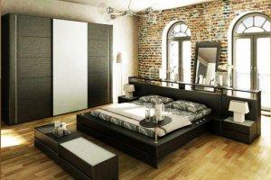Спальный гарнитур темный - Мебельная фабрика «Святогор Мебель»