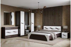 Спальный гарнитур Валенсия МДФ - Мебельная фабрика «Мир Мебели»