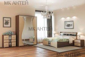 Спальный гарнитур Вега в современном дизайне - Мебельная фабрика «Антей»