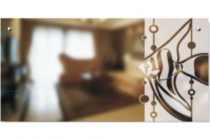 Стекло с Художественной пескоструйной обработкой Аквамарин - Оптовый поставщик комплектующих «SEDAK-Стеклотех»