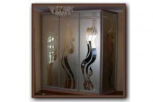 Стекло с пескоструйной обработкой для шкафов 4 - Оптовый поставщик комплектующих «Студия Художественного Стекла и Мебели»