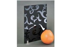 Стекло сатинированное с элементами покраски BWG-HG-029-BG черное - Оптовый поставщик комплектующих «Адэм glass»