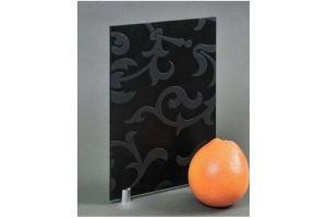 Стекло сатинированное с элементами покраски CDG-142 черное матовое - Оптовый поставщик комплектующих «Адэм glass»