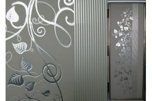 Стекло сатинированное с элементами покраски CDG-235 - Оптовый поставщик комплектующих «Адэм glass»