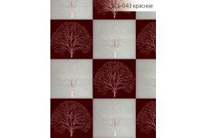 Стекло сатинированное с элементами покраски SCS-043 красное - Оптовый поставщик комплектующих «Адэм glass»