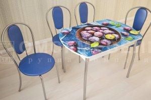 Стеклянный обеденный стол Орфей - Мебельная фабрика «Омскмебель»