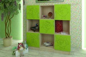 Стеллаж детский зеленый - Мебельная фабрика «НАРУС»