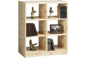 Стеллаж Лилия 5 из натурального дерева - Мебельная фабрика «Дубрава»